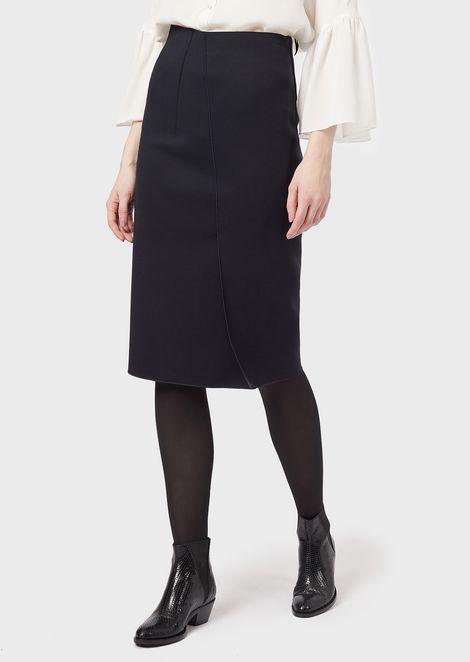 Falda de tubo de tejido de punto milano