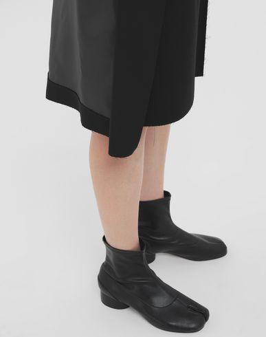 SKIRTS Bi-material skirt Black