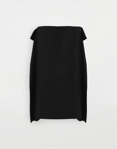 JUPES Jupe bi-matière Noir