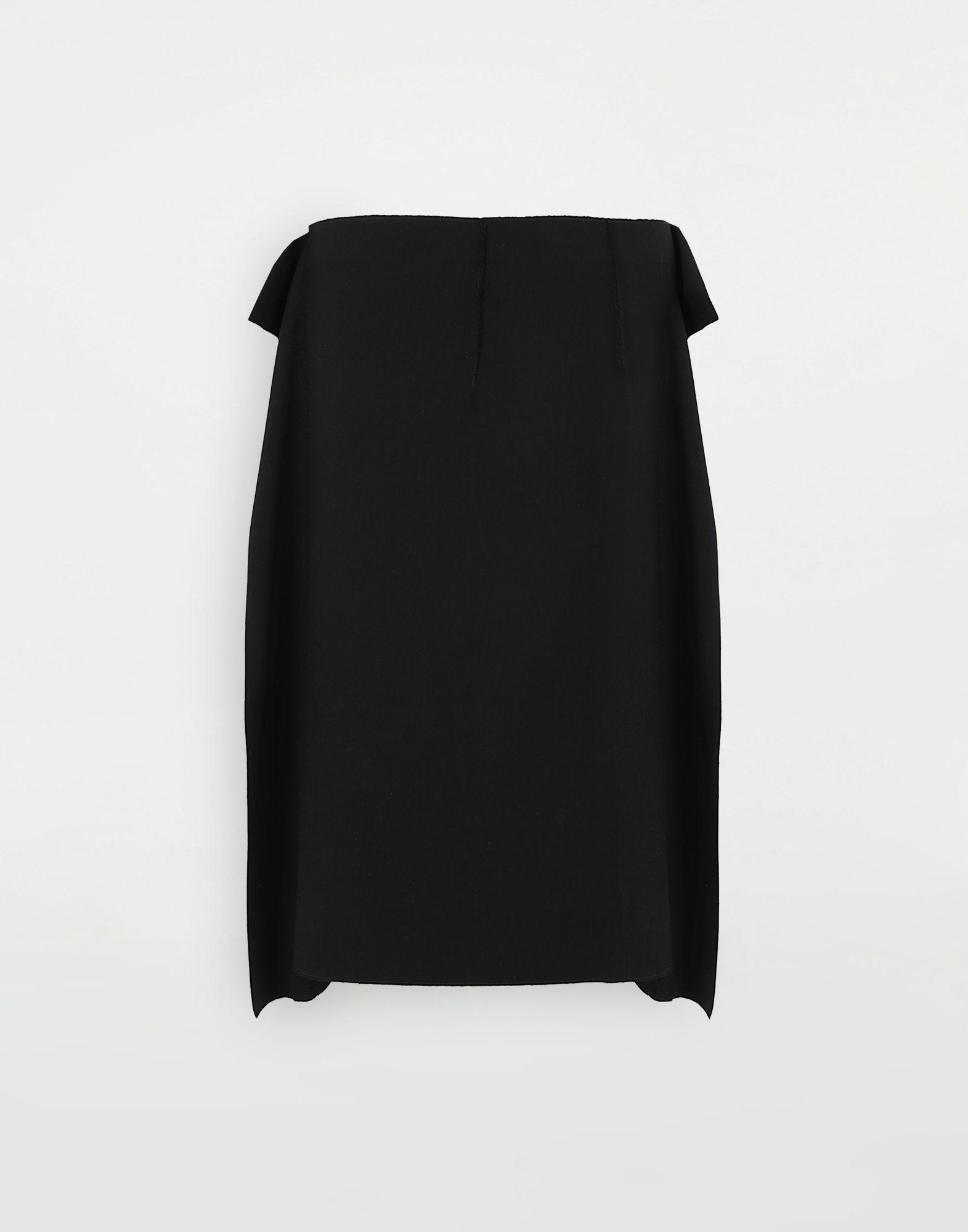 MAISON MARGIELA Bi-material skirt 3/4 length skirt Woman f