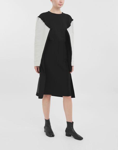MAISON MARGIELA Bi-material skirt Skirt Woman b