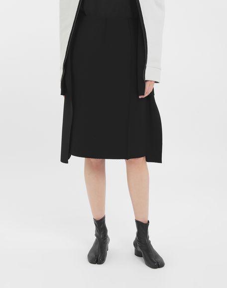 MAISON MARGIELA Bi-material skirt Skirt Woman r