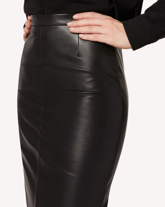 REDValentino Leather pencil skirt