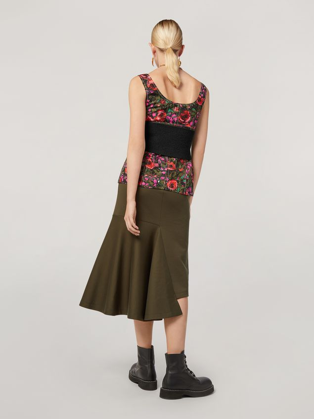 Marni Skirt in double face jersey with godet bottom on the side  Woman