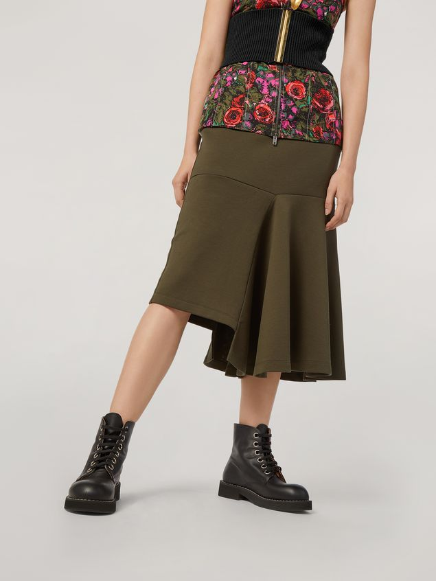 Marni Skirt in double face jersey with godet bottom on the side  Woman - 4