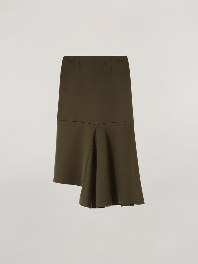 Marni Skirt in double face jersey with godet bottom on the side  Woman - 2