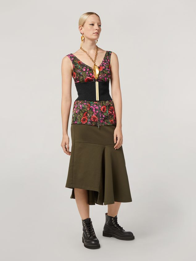 Marni Skirt in double face jersey with godet bottom on the side  Woman - 1