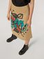 Marni A-lined skirt in cotton and linen drill Jungle Liz print Woman - 5