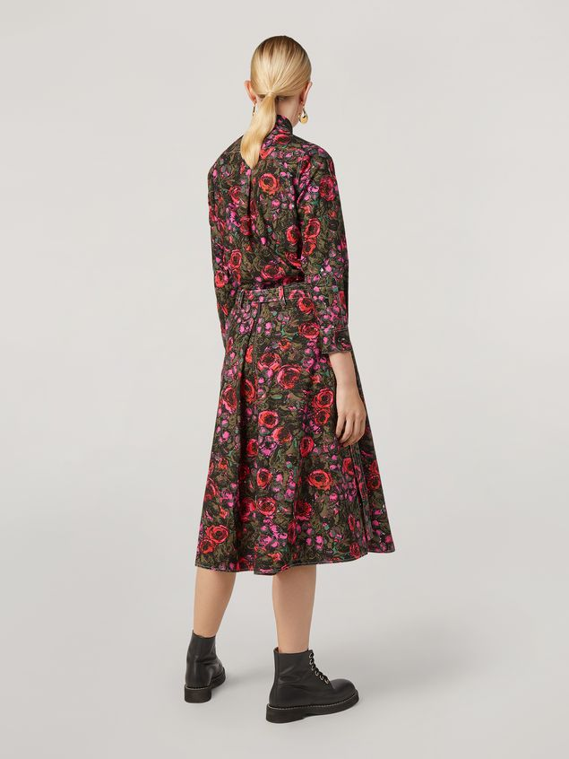 Marni A-lined skirt in poplin Amarcord print with side belts Woman - 3