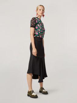 Marni Skirt in crepe envers satin with asymmetric bottom Woman