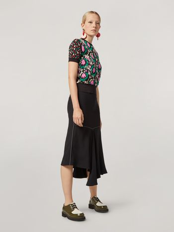 Marni Skirt in crepe envers satin with asymmetric bottom Woman f