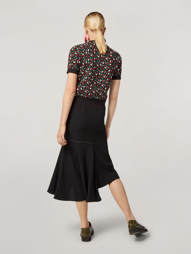 Marni Skirt in crepe envers satin with asymmetric bottom Woman