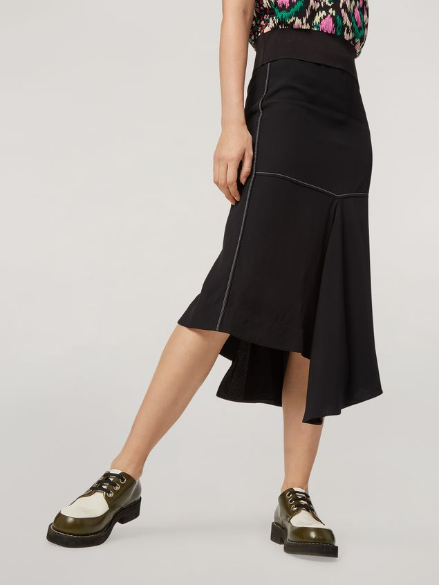 Marni Skirt in crepe envers satin with asymmetric bottom Woman - 5