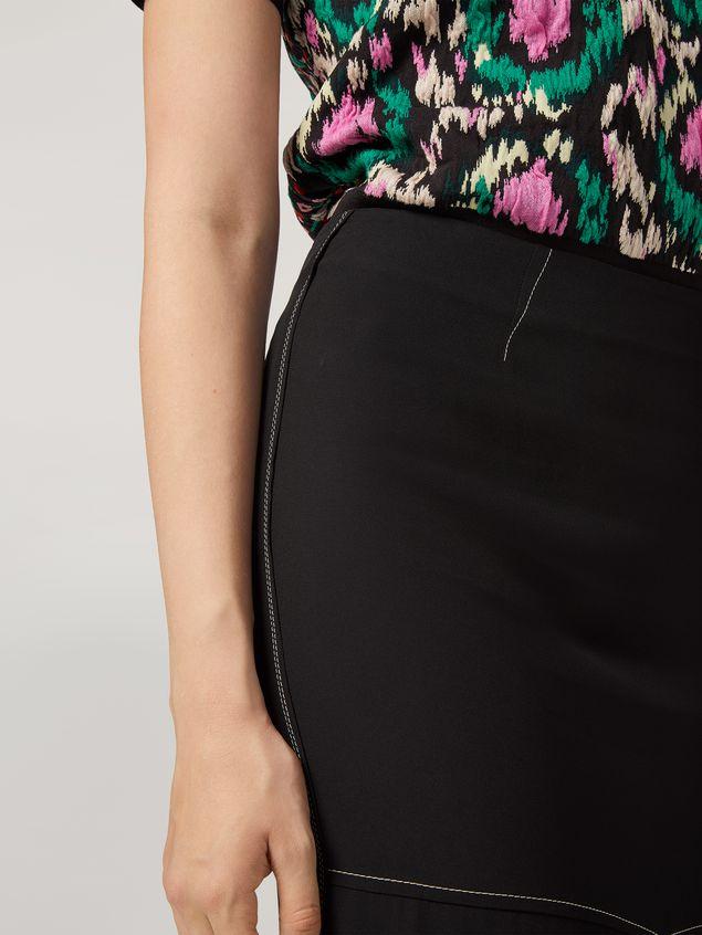 Marni Skirt in crepe envers satin with asymmetric bottom Woman - 4