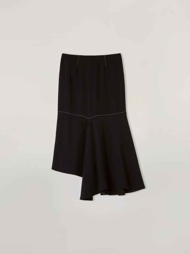Marni Skirt in crepe envers satin with asymmetric bottom Woman - 2
