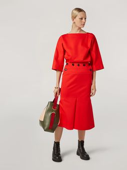 Marni Skirt in cotton and linen drill with fake front  Woman
