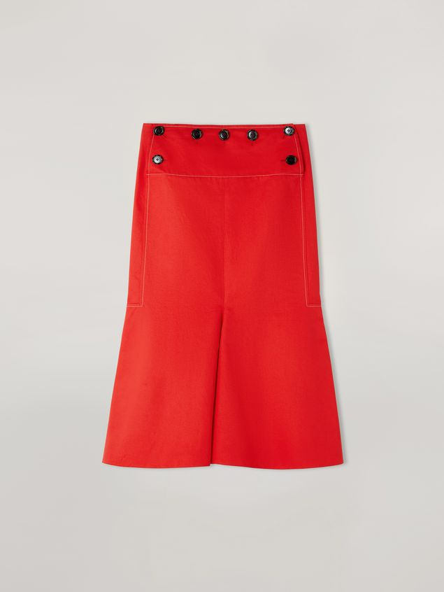 Marni Skirt in cotton and linen drill with fake front  Woman - 2