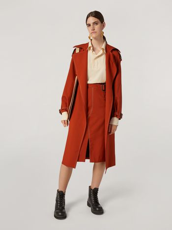 Marni Belted tulip skirt in tropical wool Woman f