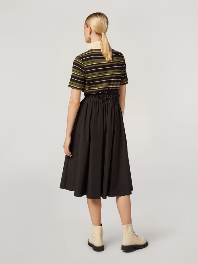 Marni Puckered A-lined skirt in cotton poplin Woman - 3