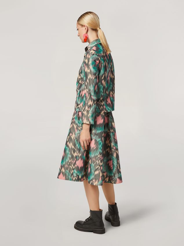 Marni Puckered A-lined skirt in cotton poly chiné Woman
