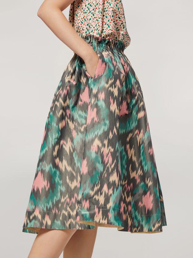 Marni Falda plisada con forma de A de mezclilla de algodón y poliéster Mujer - 5