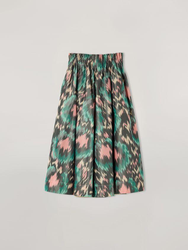 Marni Falda plisada con forma de A de mezclilla de algodón y poliéster Mujer - 2