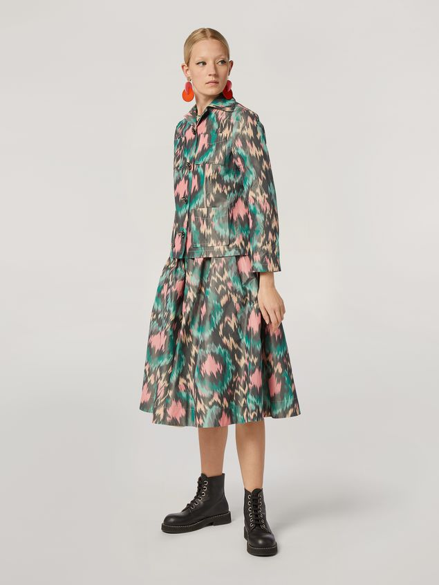 Marni Puckered A-lined skirt in cotton poly chiné Woman - 1