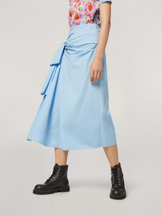 Marni Draped A-lined skirt in cotton poplin Woman - 5