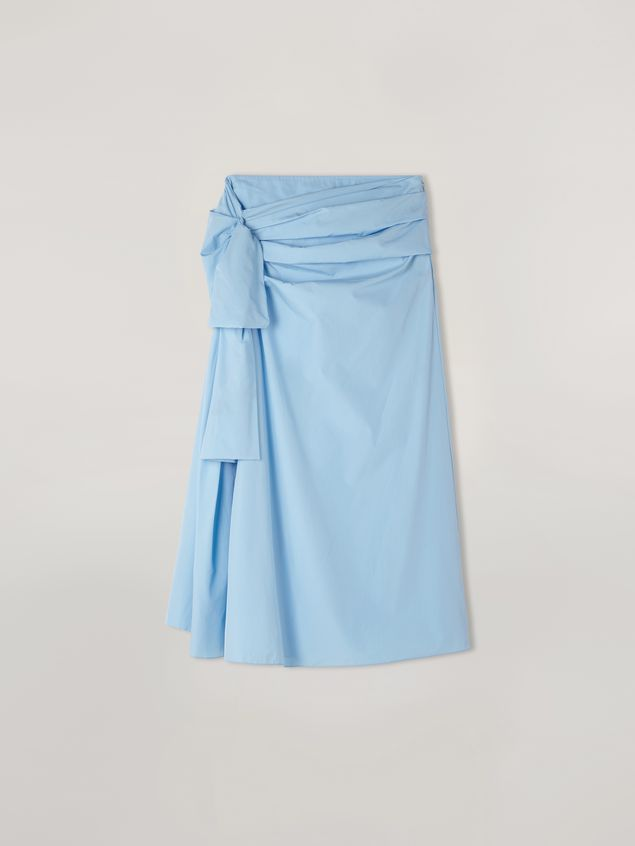 Marni Draped A-lined skirt in cotton poplin Woman - 2