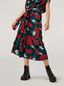 Marni Draped A-lined skirt in viscose sablé Eyed Leaves print Woman - 5