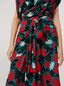 Marni Draped A-lined skirt in viscose sablé Eyed Leaves print Woman - 4