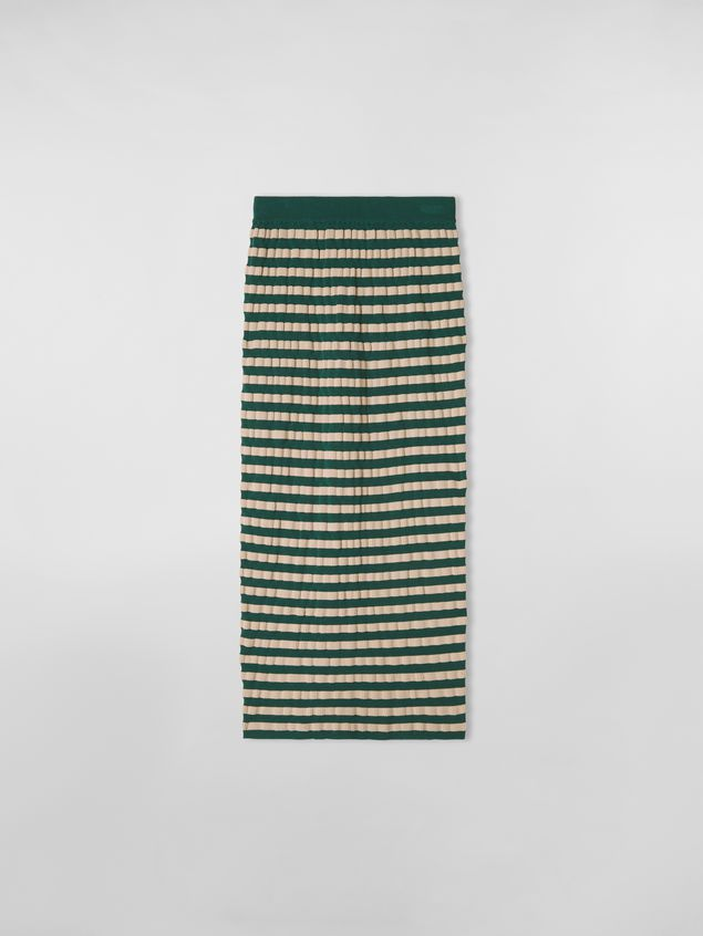 Marni WANDERING IN STRIPES wool striped skirt with embossed effect Woman - 2