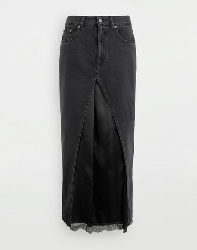 SKIRTS Multi-wear denim skirt  Black