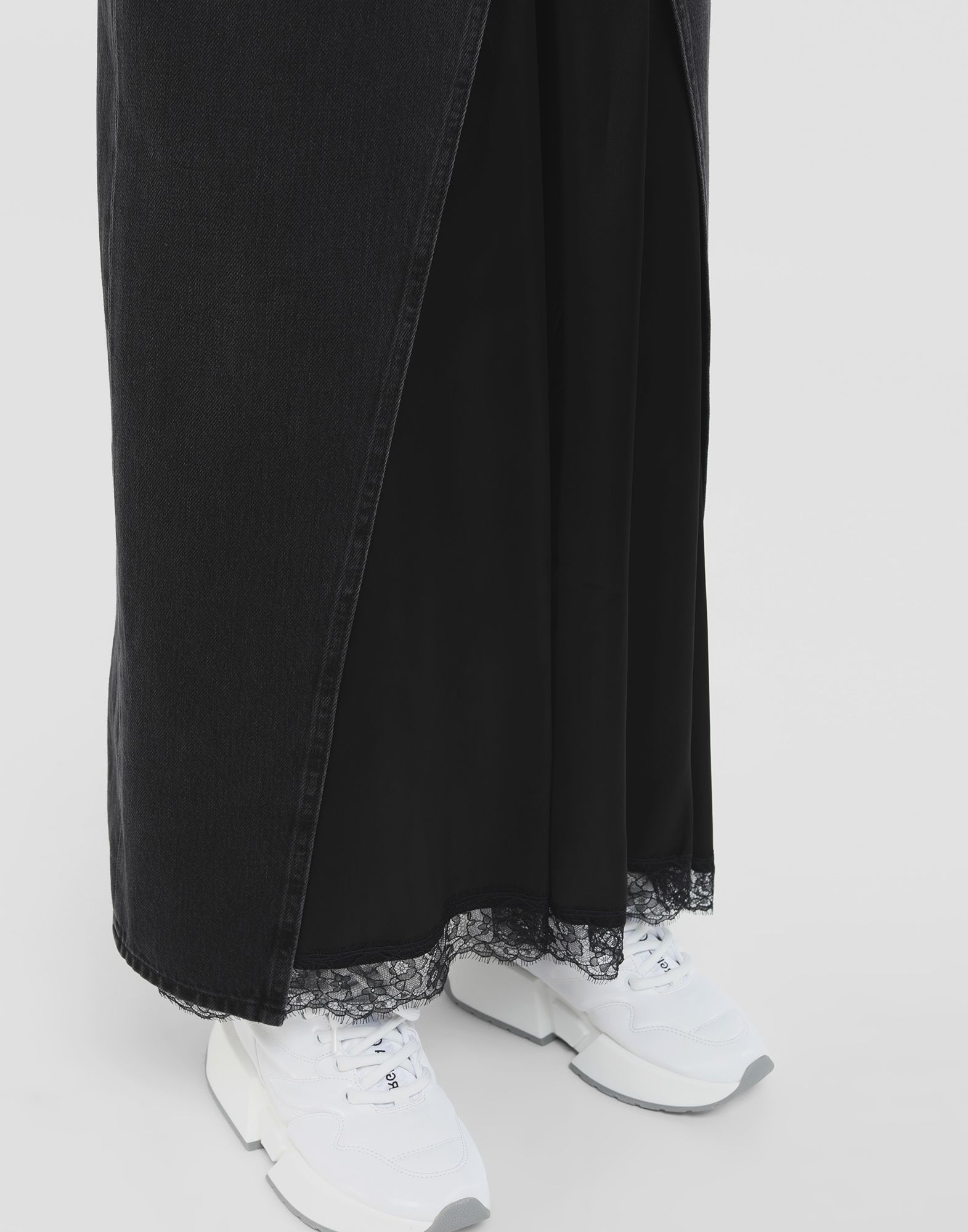 MM6 MAISON MARGIELA Multi-wear denim skirt Long skirt Woman b