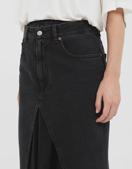 MM6 MAISON MARGIELA Multi-wear denim skirt Long skirt Woman a