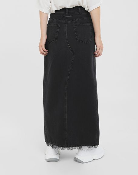 MM6 MAISON MARGIELA Multi-wear denim skirt Long skirt Woman e