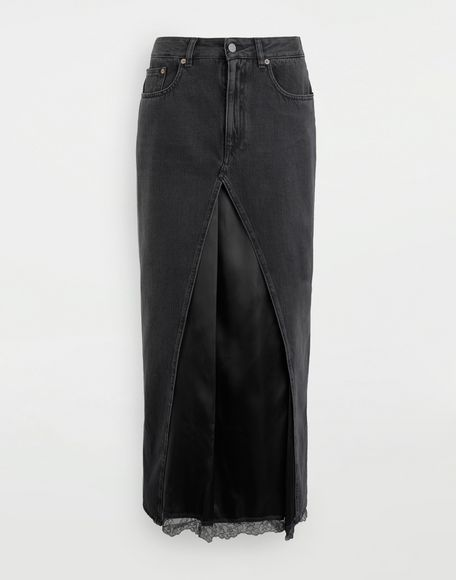 MM6 MAISON MARGIELA Multi-wear denim skirt Long skirt Woman f