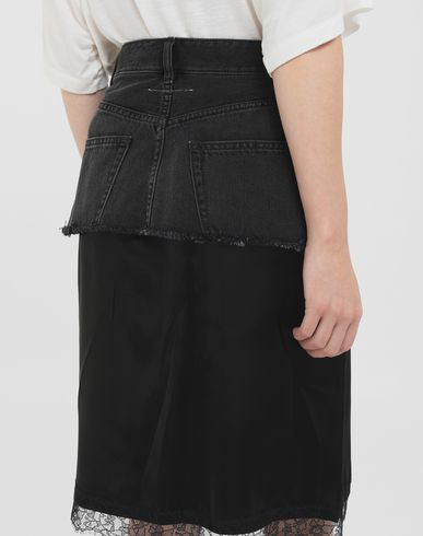 SKIRTS Spliced skirt  Black