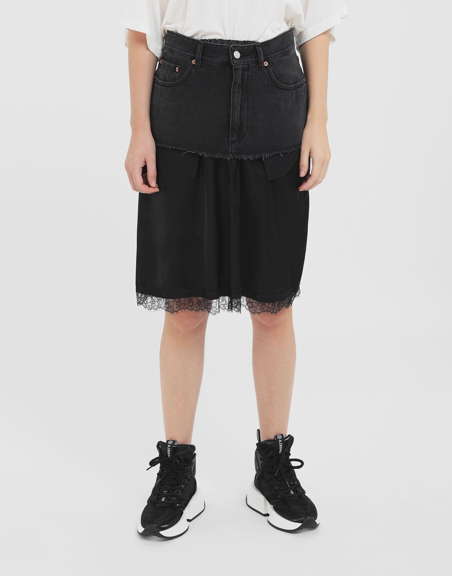 MM6 MAISON MARGIELA Spliced skirt Skirt Woman r