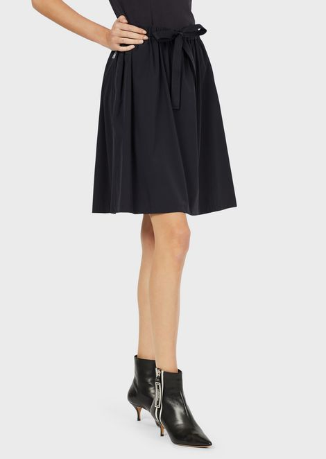 Travel Essential nylon skirt with trim