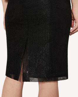 REDValentino Dentelle fleurs lace pencil skirt