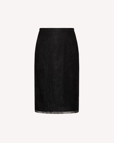REDValentino SR0RAD004J4 0NO  Midi skirt Woman a