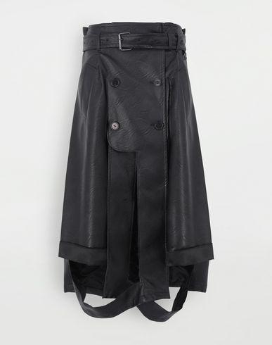 SKIRTS Décortiqué faux leather multi-wear skirt Black