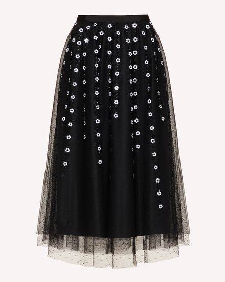 REDValentino Long and midi skirts Woman TR3RA00N4TG 0NO a