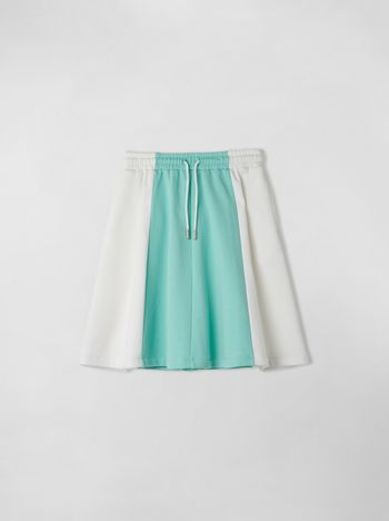 Marni FLEECE COLOR-BLOCK SKIRT  Woman f