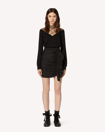 REDValentino Mini skirt Woman TR3RAD254R6 0NO f