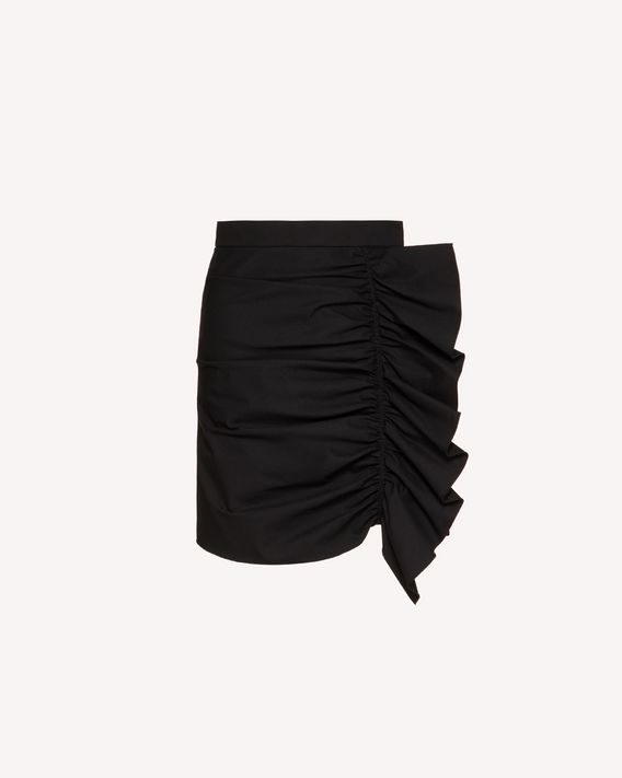 REDValentino Armure tech miniskirt with ruffle detail