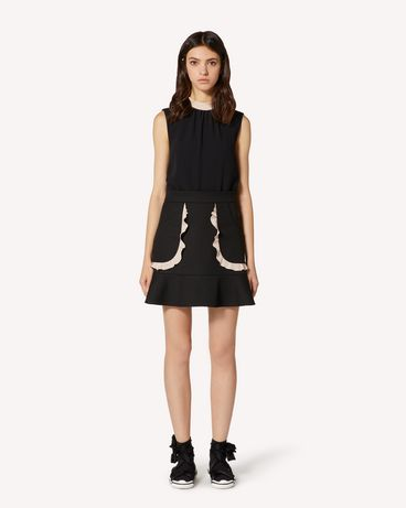 REDValentino EXCLUSIVE CAPSULE COLLECTION Tricotine tech skirt with ruffle detail
