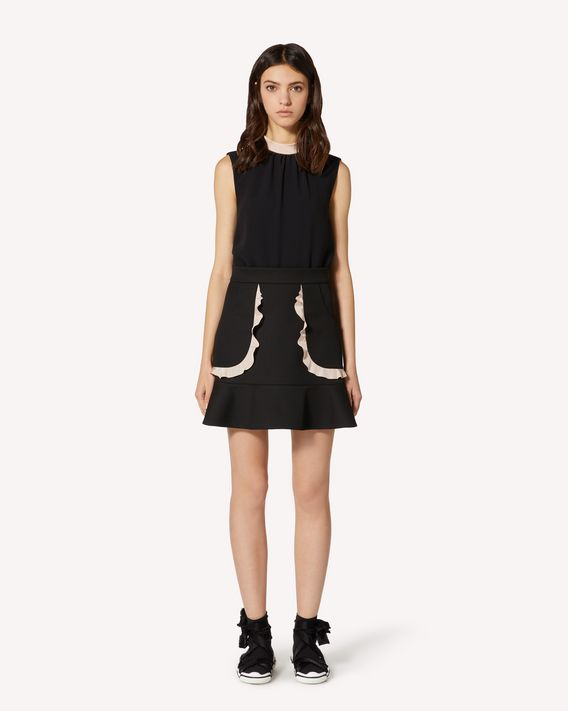 REDValentino EXCLUSIVE CAPSULE Ruffles detail tricotine tech skirt