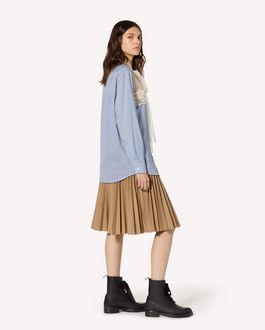 REDValentino Armuré tech pleated skirt